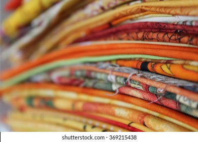 Yellow Stack of Fabrics