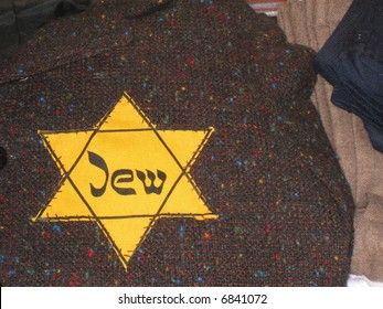 Yellow Star of David sewn on clothing