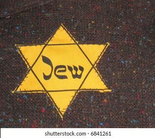 Yellow Star of David sewn onto clothing