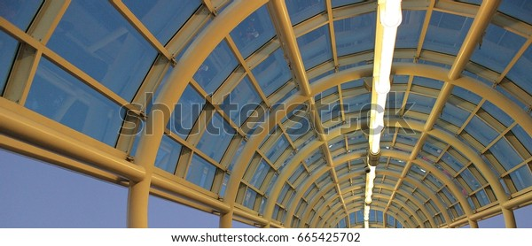 yellow steel roof structure