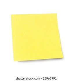 Yellow sticky note held waiting for your message. Add your own text or design.