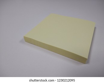 Yellow sticky note pads isolated
