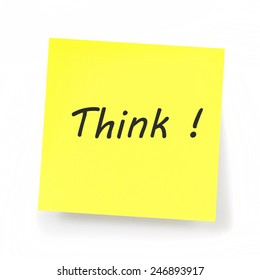 Yellow Sticky Note - Think