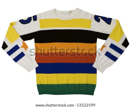 Yellow Striped Sweater Stock Photo Edit Now 53522599 Shutterstock