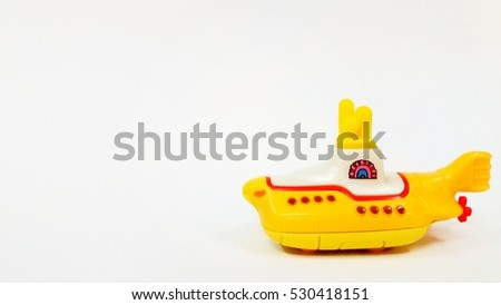 Yellow submarine diecast with