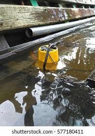 yellow submersible pump