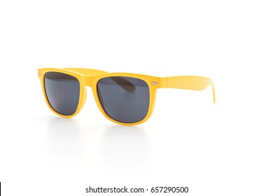 yellow sunglasses  isolated on white background