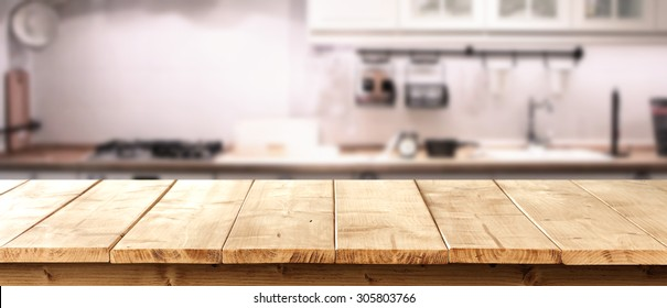 yellow table of retro wood and kitchen room interior with retro chic