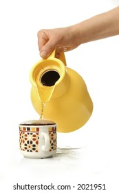 Yellow teapot and cup