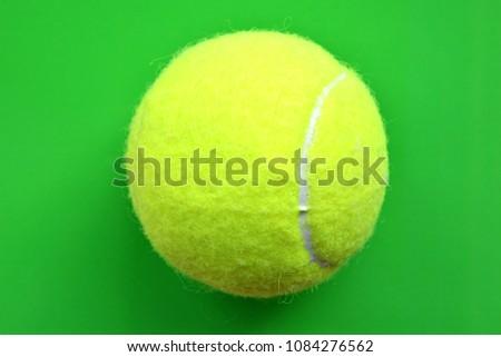 Yellow Tennis Ball On White Border Stock Photo Edit Now 1084276562