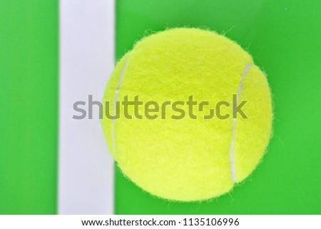 Yellow Tennis Ball Over White Border Stock Photo Edit Now