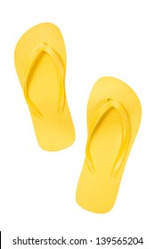 Yellow Thongs/ Summertime Fun/ Time For Vacation/ Vertical Shot