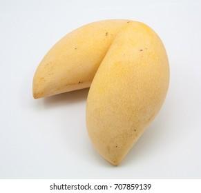 yellow three mango isolated on white background