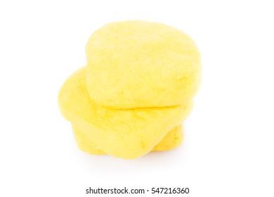The Yellow Tofu on white background