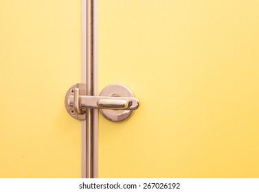 yellow toilet door