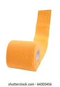 Yellow toilet paper