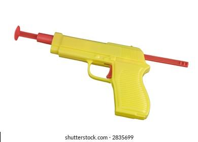 Yellow toy dart gun