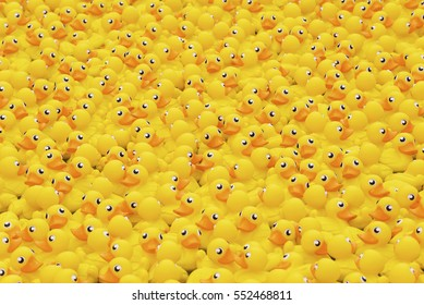 yellow toy duck floating in wading pool ,