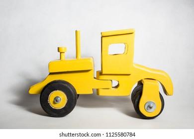 Yellow Toy Truck Construction handmade wooden