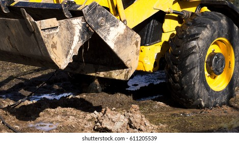 Yellow tractor jcb loader
