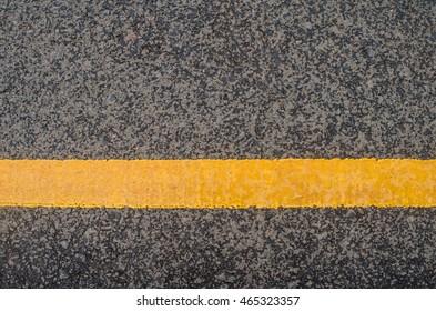 Yellow traffic line
