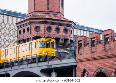 Yellow Train in Berlin