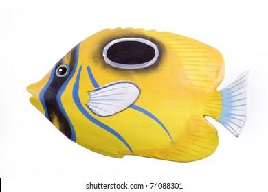 yellow tropical fish