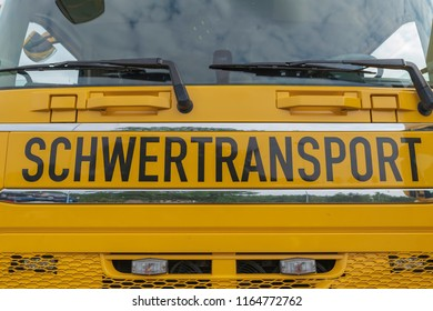 Yellow truck with the label Treacly transport