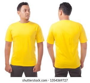 Mockup Tshirt Yellow Images Stock Photos Vectors Shutterstock