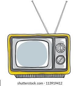 Yellow tv vintage