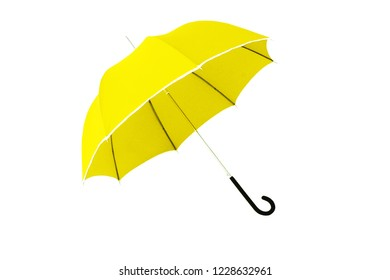 yellow umbrella isolated on a white background