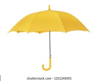 Yellow umbrella open