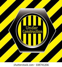 Yellow under construction grunge background