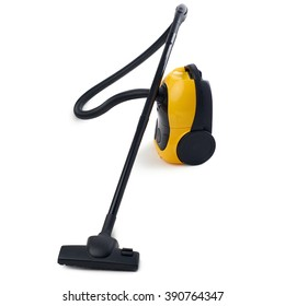 Yellow Vacuum cleaner over isolated white background
