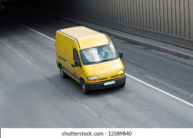 """yellow van  - See similar images of this """"Business vehicles"""" series in my portfolio"""