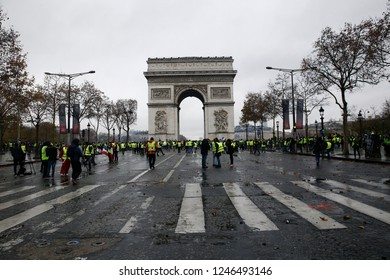 Yellow Vests Protest in Paris, France