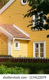 Yellow villa in the suburbs