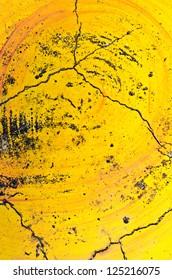 Yellow wall damage