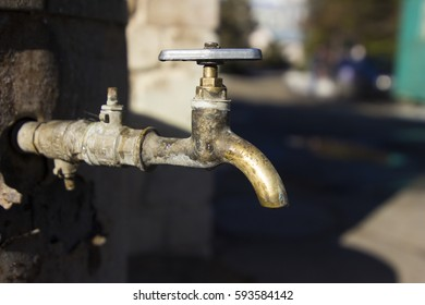 yellow water faucet