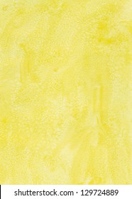 Yellow watercolor background with pattern