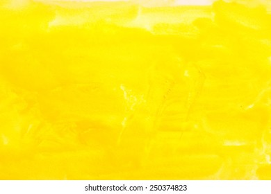 yellow watercolors on textured paper