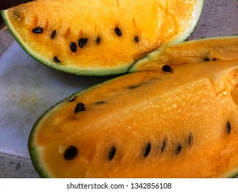 Yellow watermelon flesh which is also known as  the yellow crimson