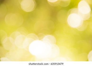 Yellow and white bokeh background from natural