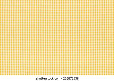 Yellow and white checkered fabric