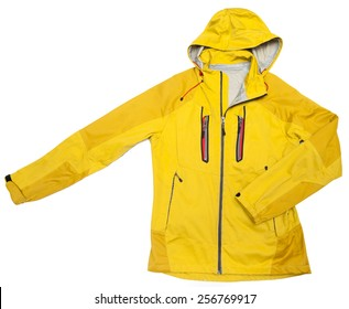 yellow windbreaker rain proof  jacket full zip