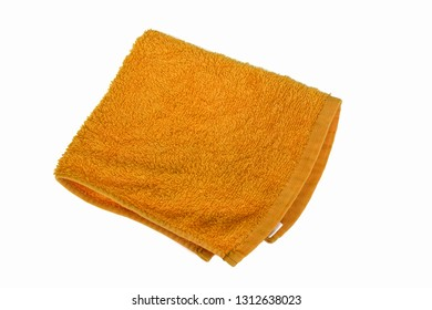 Yellow wipes Blank on a white background