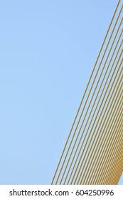 yellow wire rope at Suspension bridge - patterns