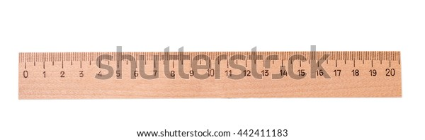 Yellow Wooden Centimeter Ruler Cut Out Stock Photo (Edit Now ...