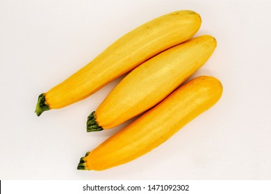Yellow Zucchini Isolated on White. Raw Courgette Vegetable. Organic Marrow Squash for Spaghetti. Healthy Vegan Food. Ugly Organic Harvest. Natural Delicious Plant from Garden or Market