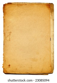 yellowed sheet of old torn paper